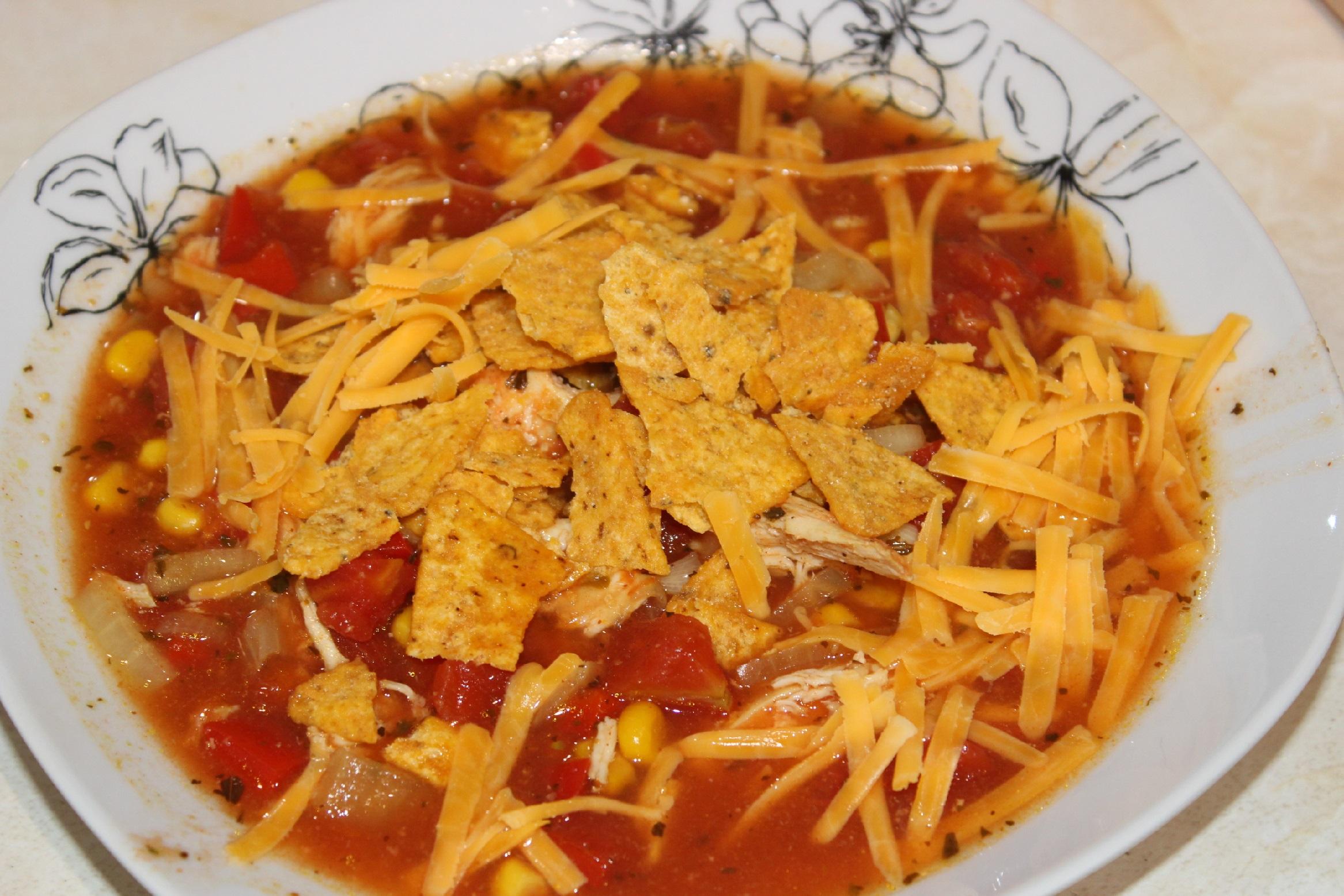 Fajita-kylling suppe