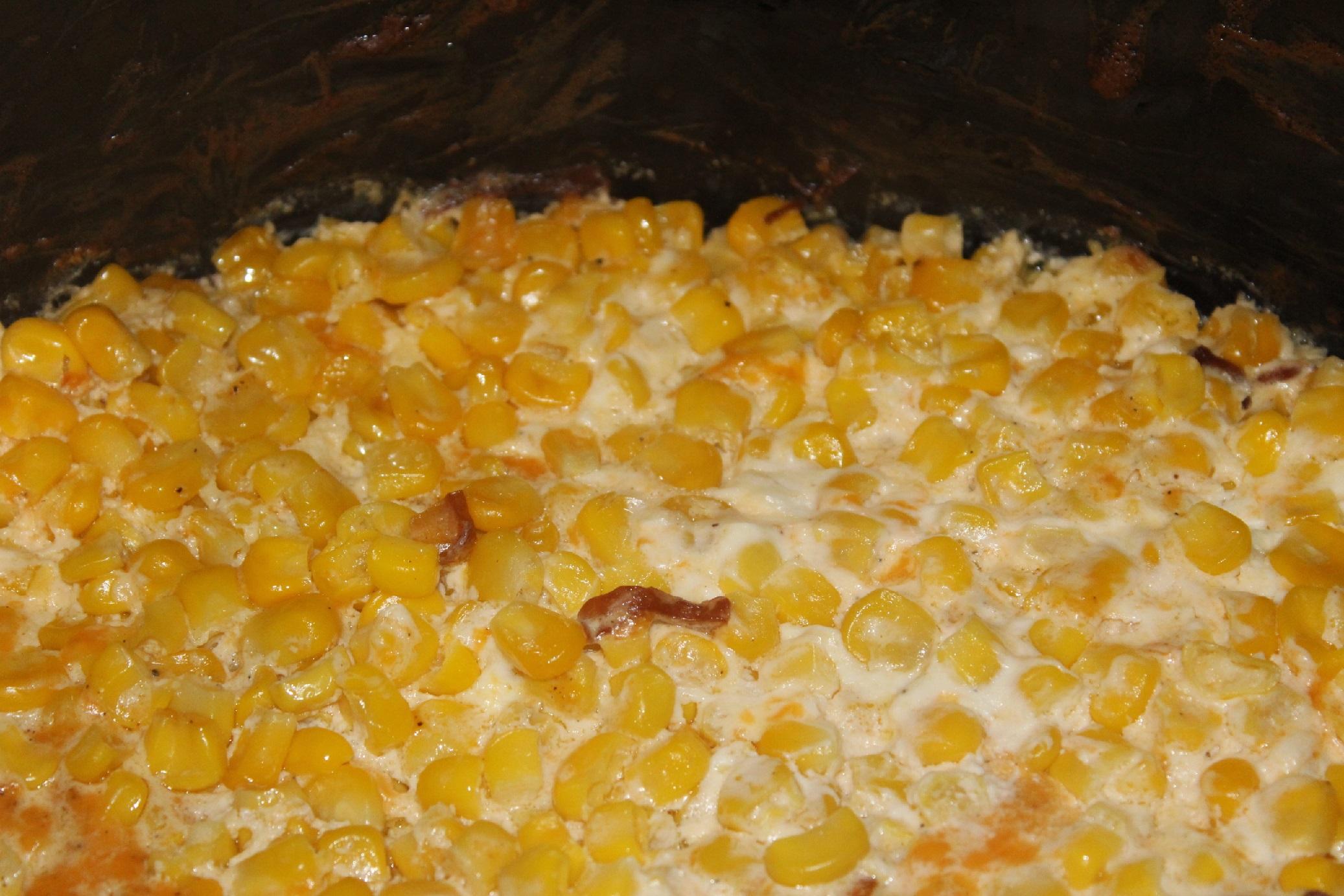 Cheesy cream corn
